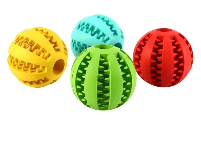 Watermelon Pattern Ball Tiny Puppy Toys , Durable Food Grade Plastic Dog Balls